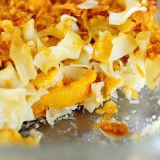 Peach Noodle Kugel II Recipe | food | Pinterest