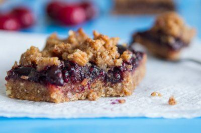 Triple Almond Cherry Crumble Squares (GF Vegan) by Oh She Glows