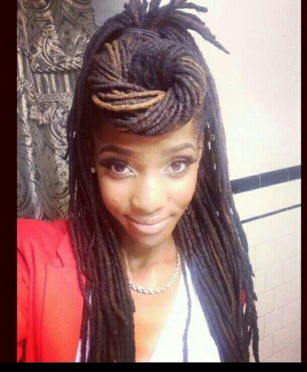 cute french braid hairstyles : Gorgeous dread style Cute loc hairstyles Pinterest