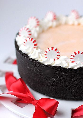 All-American Peppermint Stick Torte with Hot Fudge Sauce