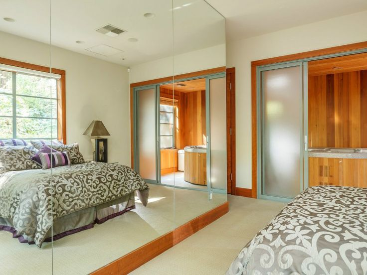 bedroom with floor to ceiling mirrors saint helena contemporary p