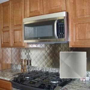 30 in quilted stainless steel backsplash hq3030ss at the home depot