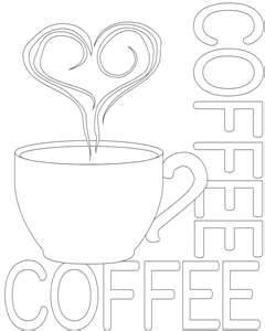 Starbucks cup coloring sheets coloring pages for Starbucks coloring page