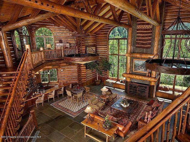 log cabin cool houses pinterest