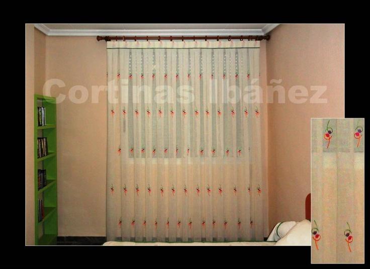 Pin by klau pv on cortinajes para ventanas pinterest - Cortinas con visillo ...