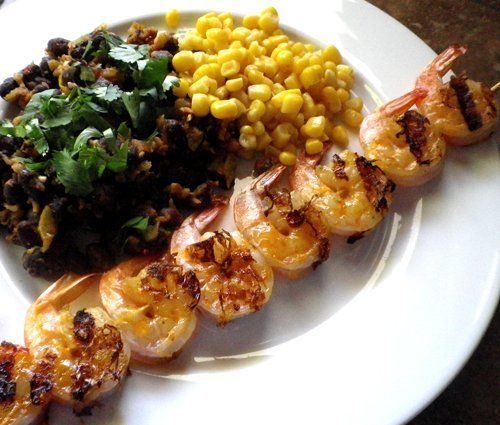 Here's The Skinny -- Bangin' Grilled Shrimp Skewers
