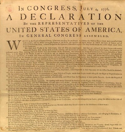 in congress july 4th 1776