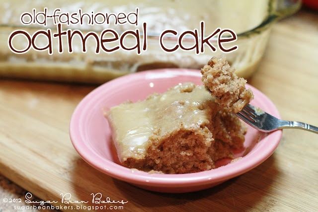 Old Fashioned Oatmeal Cake. Rustic & Delicious