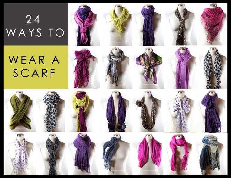 24 ways to wear scarf accessories