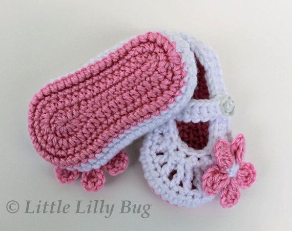 Free Crochet Patterns For Baby Booties Mary Janes : Crochet Mary Jane Baby Booties Hooked on crochet Pinterest