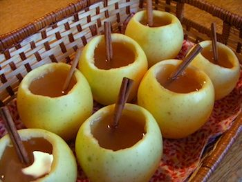 Caramel Apple Cider in Apples. So cute for a fall party!!