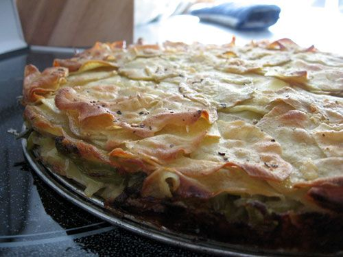 Yam and Leek Galette | Baking a scene | Pinterest