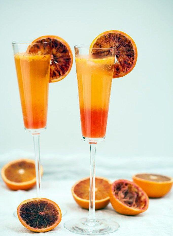 Blood Orange Sparkler (French 75) | Cocktails...and Drinks | Pinterest