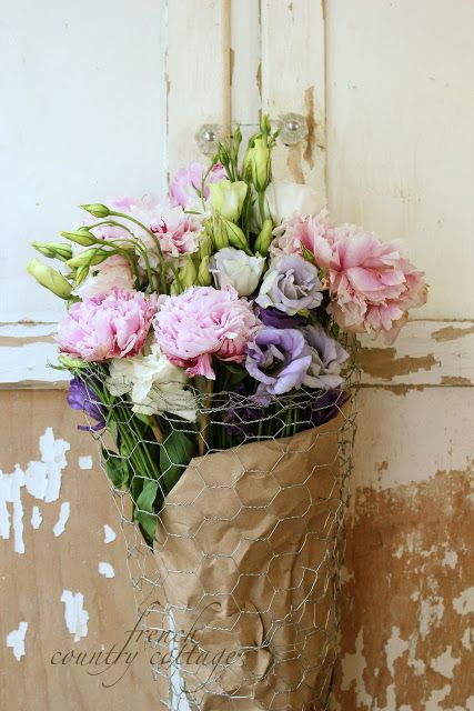 FRENCH COUNTRY COTTAGE: DIY Wire flower basket