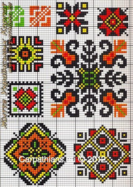 Вышивка с узорами в крестики 930