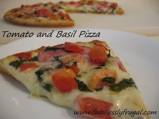 Basil and Tomato Pizza with Homemade Crust