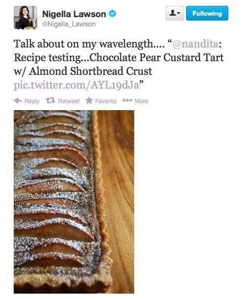 ... Dessert: Chocolate Pear Custard Tart with Almond Shortbread Crust