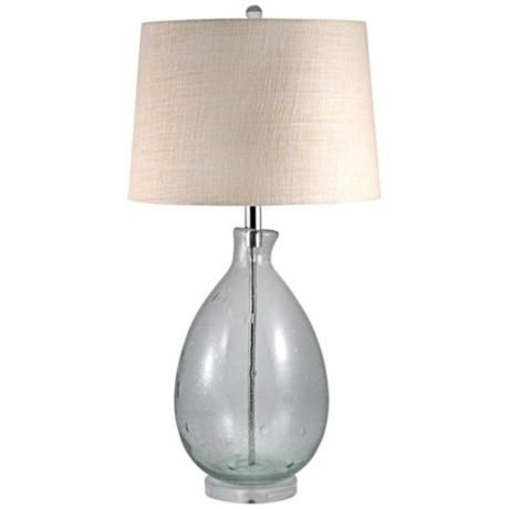 Clear Seeded Glass Table Lamp Nadia 39 S Front Room Pinterest