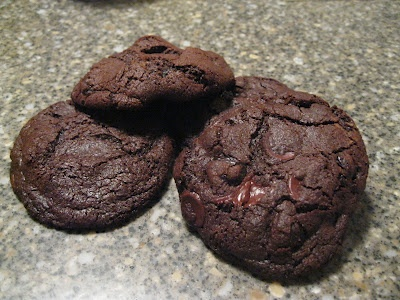 Chocolate Cookies with Sour Cherries - Delicious!