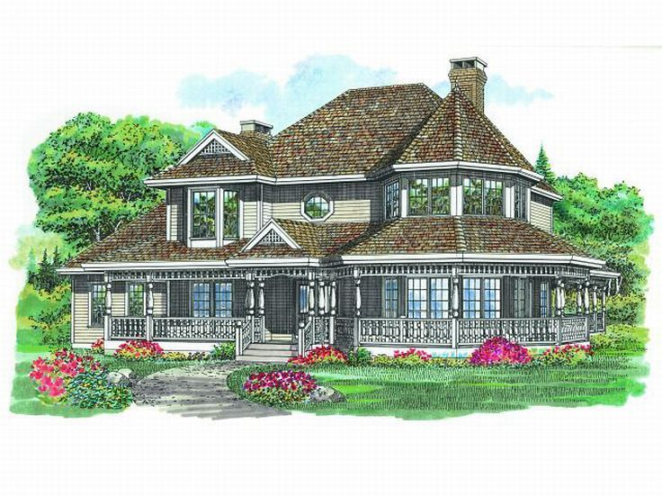 Victorian House With Wrap Around Porch House Plans