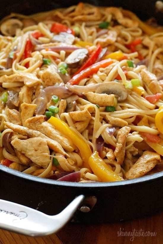 Cajun chicken pasta on the lighter side- ww 8pts.