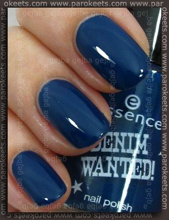 I'm starting to get back into nail polish.  This is by Essence. (Denim Wanted Line) My Boyfriend's Jeans