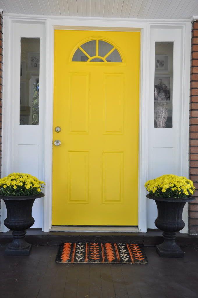 Yellow front door for Front door yellow paint
