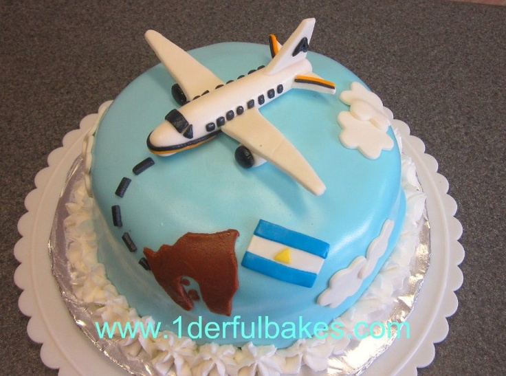 Airplane birthday party cake ideas image inspiration of for Airplane cake decoration