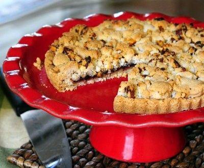 Cranberry Pecan shortbread Tart | Pies and Tarts | Pinterest
