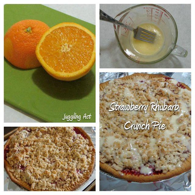 Rhubarb Crunch Pie with Orange Glaze #strawberry #rhubarb #orange #pie ...