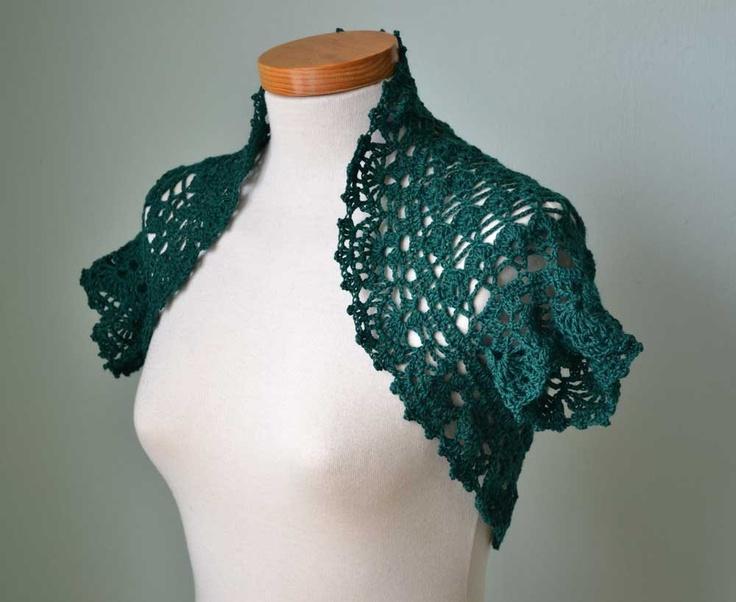 Crochet Free Pattern Bolero : Crochet lace shrug pattern PDF