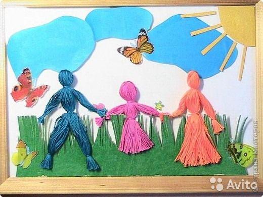 Детские поделки тема семья