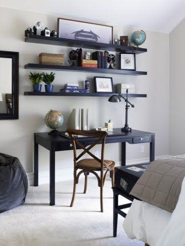 shelves for over desk inspiration home inspirations. Black Bedroom Furniture Sets. Home Design Ideas