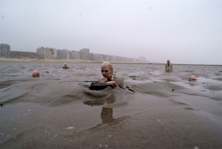'Waiting for Climate Change' by Isaac Cordal