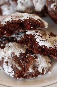 Crinkle Cookies are the perfect holiday cookie with the extra gooey ...