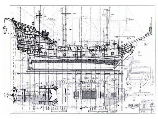 Чертежи пиратских кораблей своими руками 53
