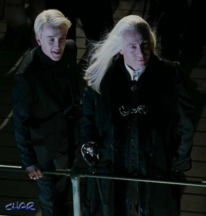 Lucius Amp Draco Malfoy In Goblet Of Fire Harry Potter