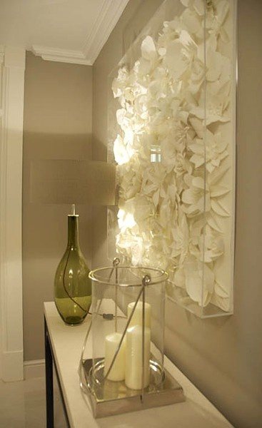 or small shadow box filled with paper or same coloured silk flowers. Black Bedroom Furniture Sets. Home Design Ideas