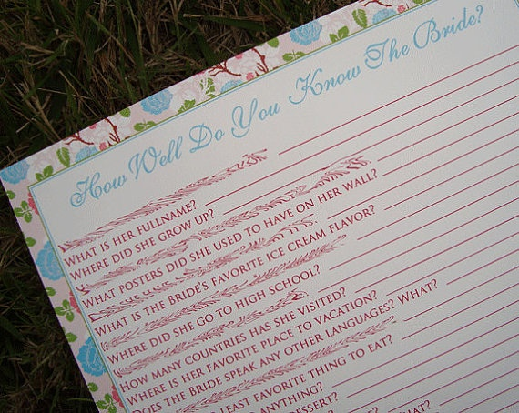 How well do you know the bride game weddings pinterest