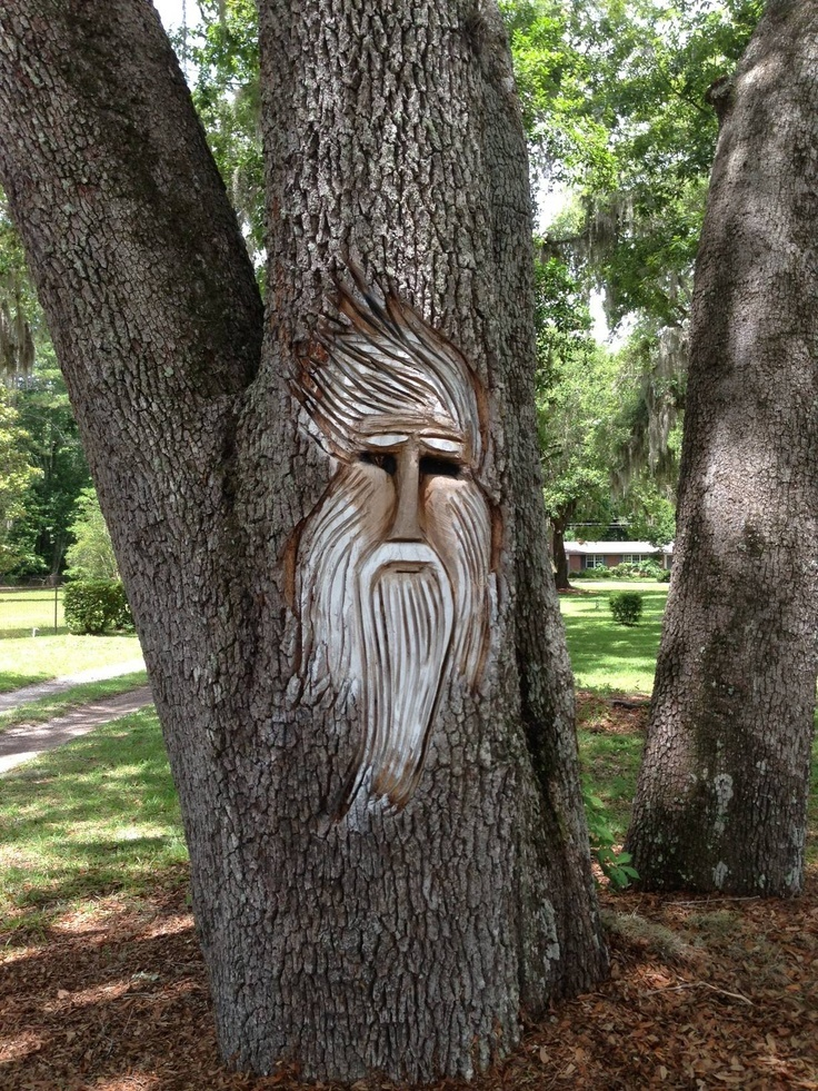 Tree carving really cool garden ideas pinterest
