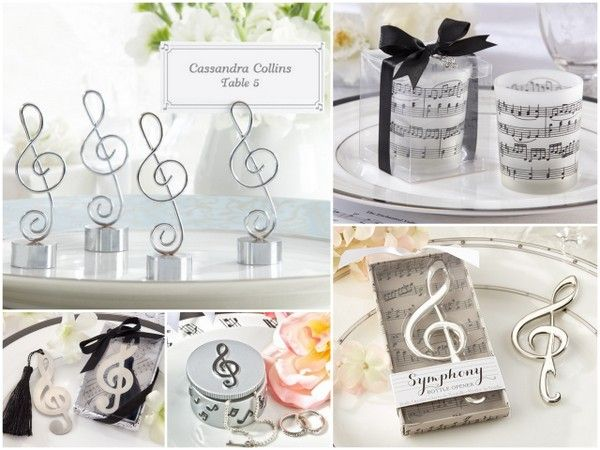 Music Note Wedding Party Favors
