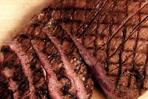 As seen on Guy's Big Bite: Bloody Mary Flank Steak