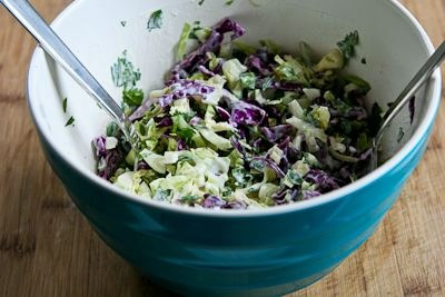 ... Recipe for Lettuce Wrap Fish Tacos with Spicy Cabbage Slaw and Avocado
