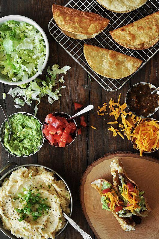 Potato tacos! | Comida para los nietos | Pinterest