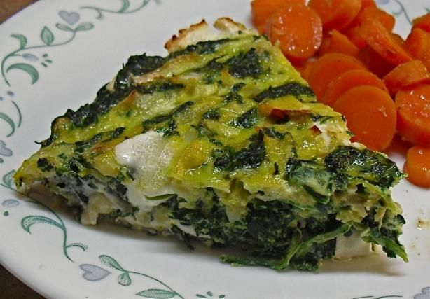 Crustless Spinach Quiche from Food.com This simple-to-make quiche is ...