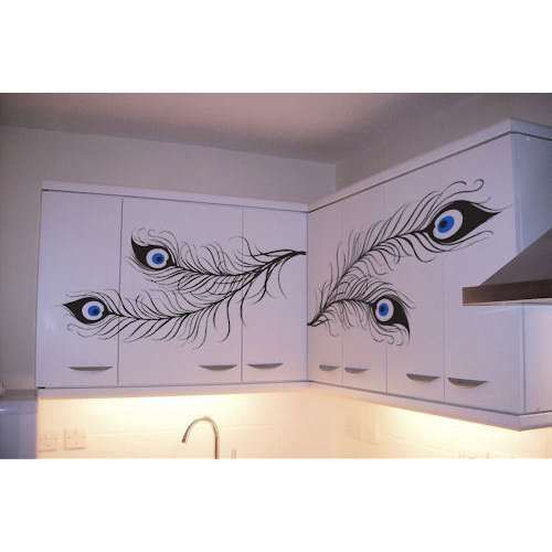 Idea For Kitchen Cabinet Decals