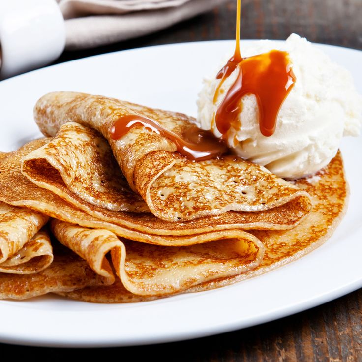 Pumpkin Crepes with caramel sauce —   honey   Pinterest