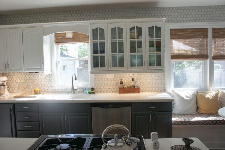 hexagon tile backsplash home inspiration pinterest