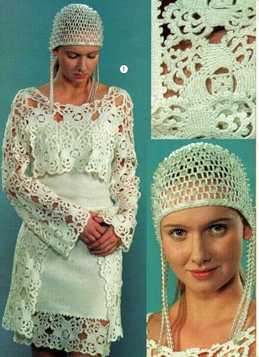 Wedding dress with vest and diagrams i love the headpiece