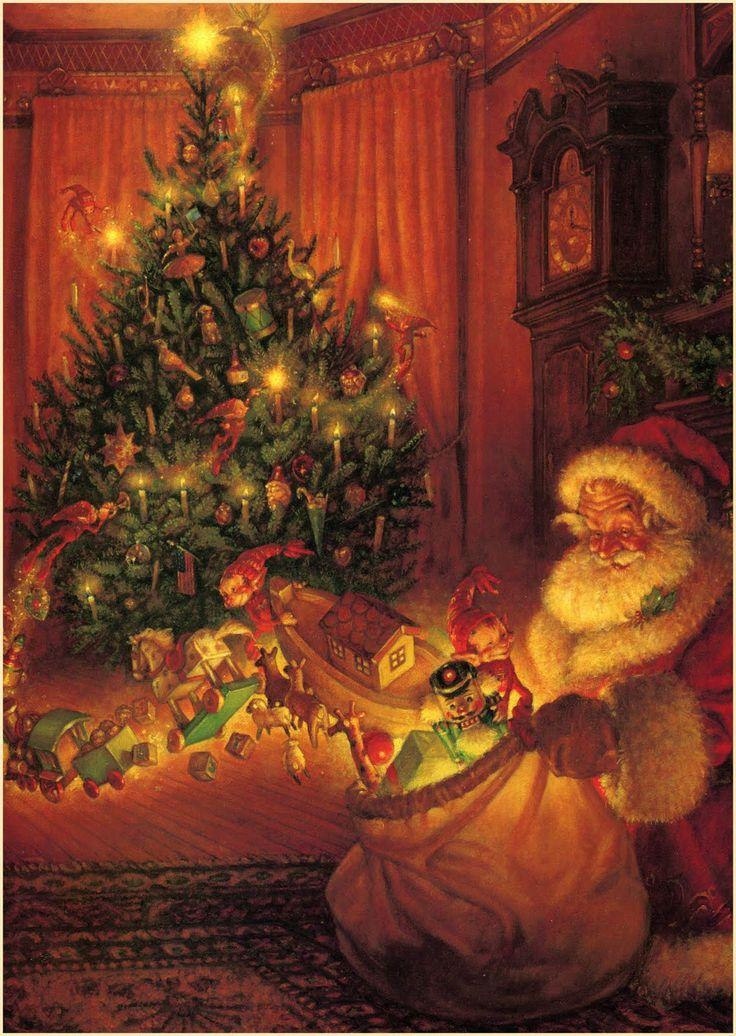 Дед Мороз и подарки.  Скотт Густафсон